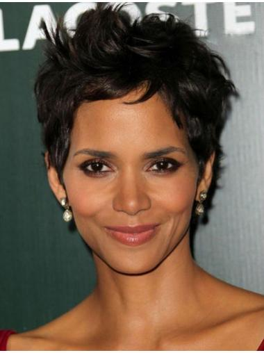Black Wavy Synthetic Halle Berry Wigs