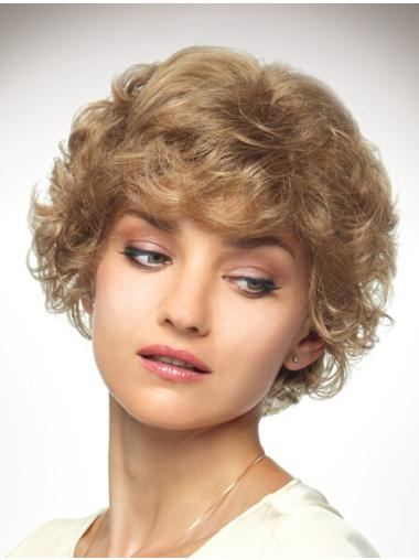 Layered New Chin Length Synthetic Blonde Medium Wig