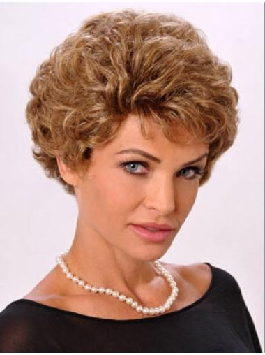Blonde Synthetic Natural Short Monofilament Wigs