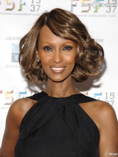 Lace Front Celebrity Wigs Brown Synthetic Amazing