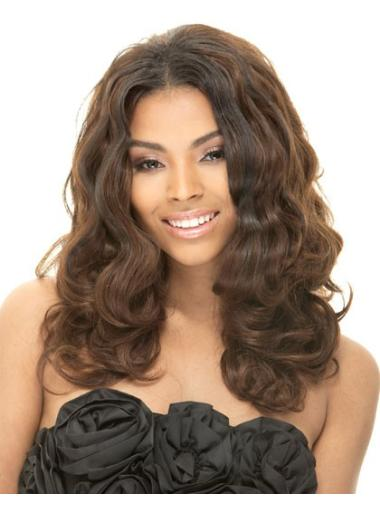 Without Bangs Long Capless Wig For African American Hair