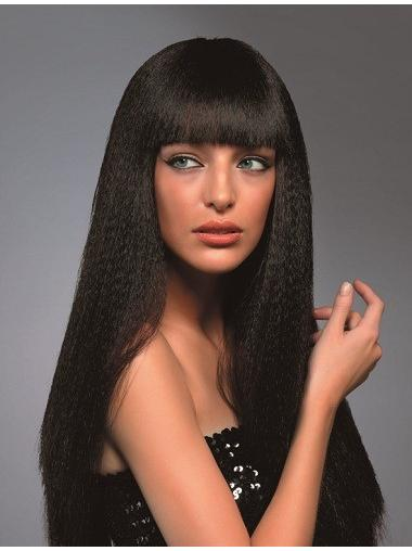 With Bangs Wavy Long Capless Brown Quality Synthetic Wigs