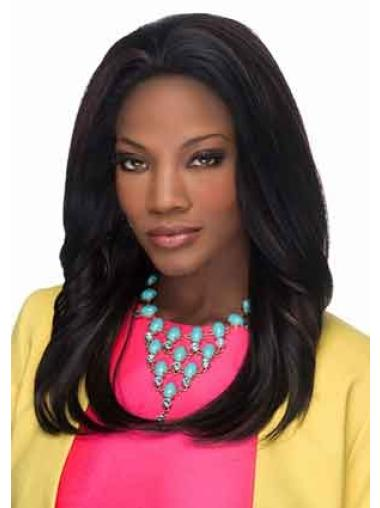 24 Inches Black Layered Straight Long Best Synthetic Wigs Online