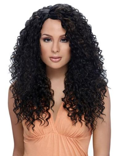 Black Perfect Kinky Layered Synthetic Capless Wigs African American