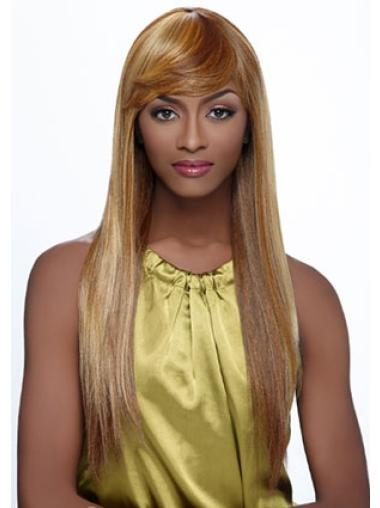 Convenient Straight Synthetic Blonde Long Wig