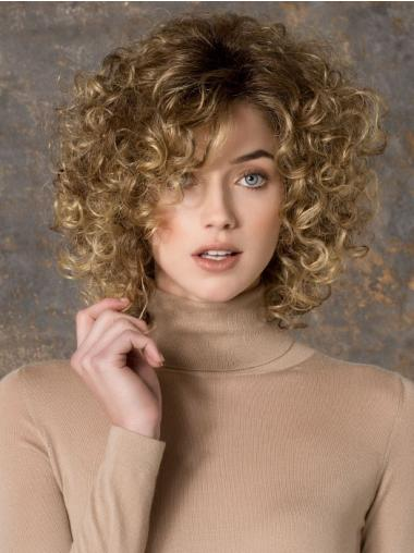 Affordable Layered Long Synthetic Blonde Curly Wigs