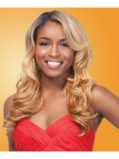 Comfortable Capless Wavy Synthetic Long Blonde Hair Wigs