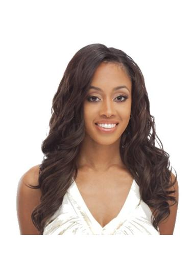 Capless Brown Wavy Long Most Natural Looking Synthetic Wigs