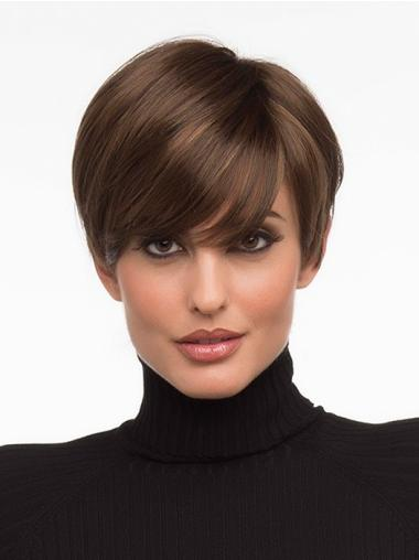 Straight Cropped Synthetic No-Fuss Monofilament Wig Sale