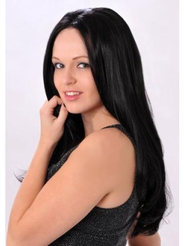 Without Bangs Lace Front Straight Popular Synthetic Long Straight Wig