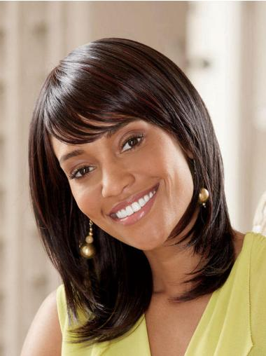 With Bangs Lace Front Straight Sassy Synthetic Long Straight Wig