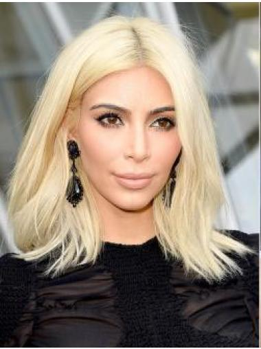 Straight Shoulder Length Great Kim Kardashian Blonde Wig Sale