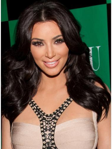 Capless Without Bangs Long Amazing Kim Kardashian Long Black Wig