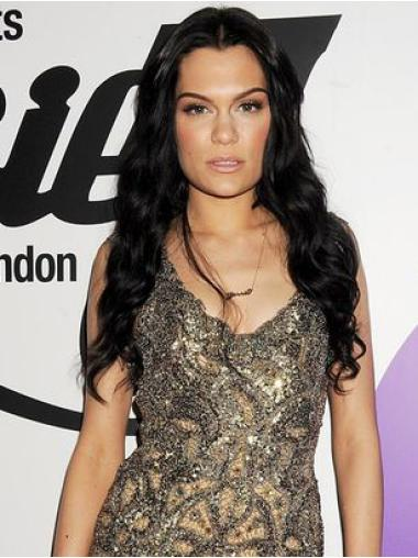 Celebrity Wigs Human Hair Black Long 24 Inches Natural Jessie J