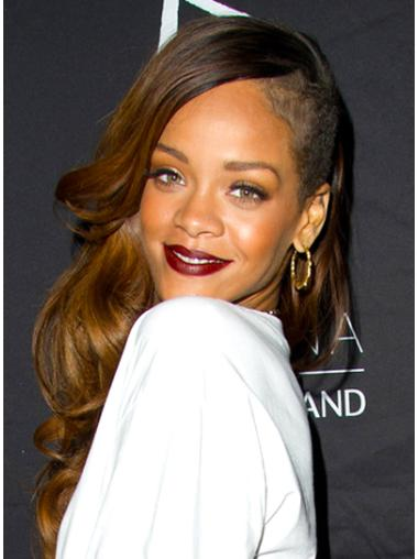 Capless Brown Without Bangs Style Rihanna And Her Wigs