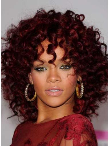 Capless Layered Shoulder Length Incredible Rihanna Celebrity Style Wigs