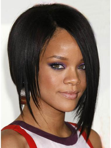 Capless Bobs Chin Length Suitable Rihanna Celebrity Wigs For Sale