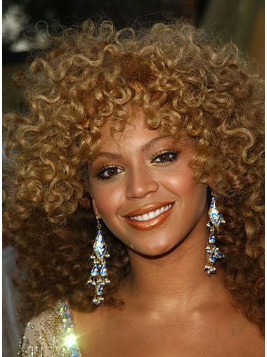 Beyonce Blonde Wigs Curly Synthetic