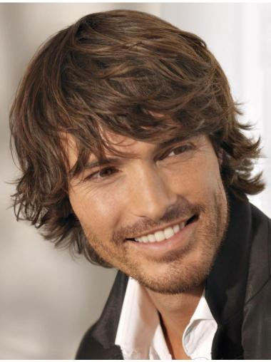 Wavy Soft Real Hair Wigs For Men