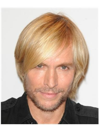 Blonde Short Cheapest Real Wigs For Men