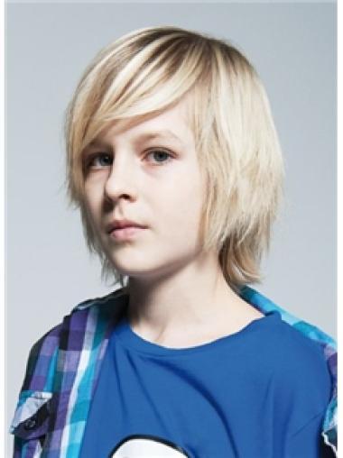 Cheap Blonde Straight Children Human Hair Wigs