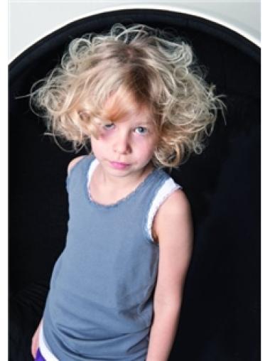 Top Capless Blonde Wavy Wig For Kid