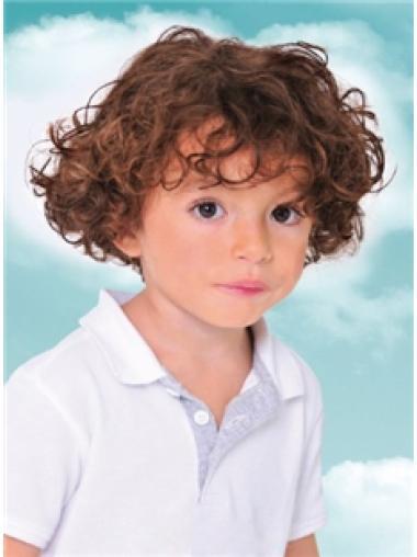 Auburn Short Comfortable Children Human Hair Wigs