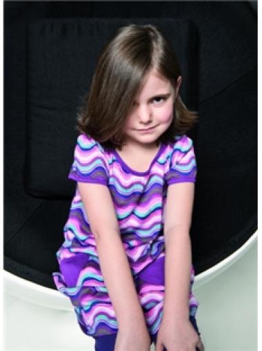 100% Hand-Tied Chin Length Children Human Hair Wigs
