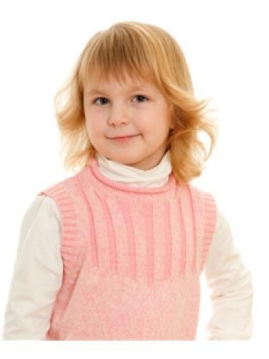 Gorgeous 100% Hand-Tied Blonde Wavy Children Wigs