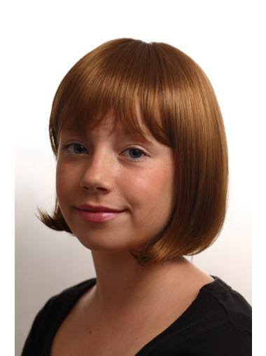 Incredible Straight Capless Synthetic Kids Wigs