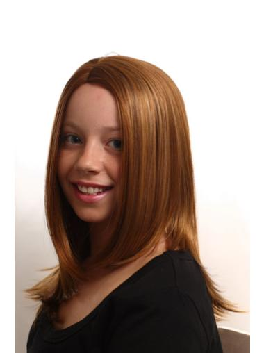 Auburn Straight Synthetic Children Wigs For Sale