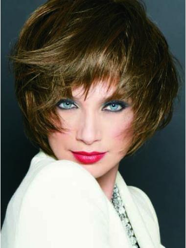 Monofilament Straight Synthetic 9 Inches Popular Women'S Blonde Bob Wigs