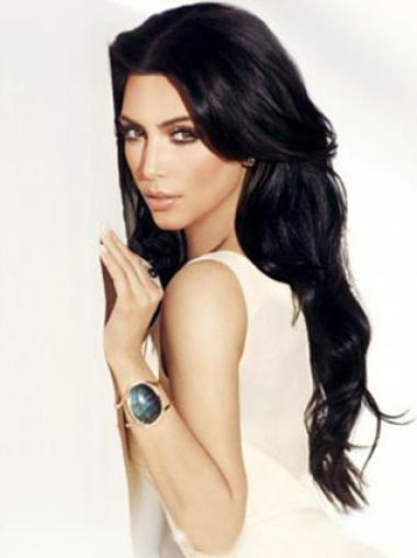Lace Front Without Bangs Remy Human Hair 24 Inches Greatkim Kardashian Hair Wigs