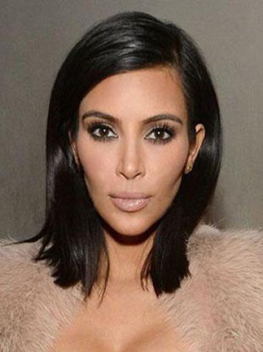 Without Bangs Shoulder Length Cheapest Kim Kardashian Lace Front Wig