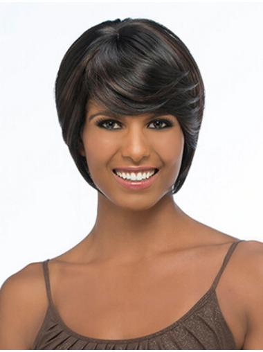 Sleek Synthetic 10 Inches Chin Length Synthetic Wigs