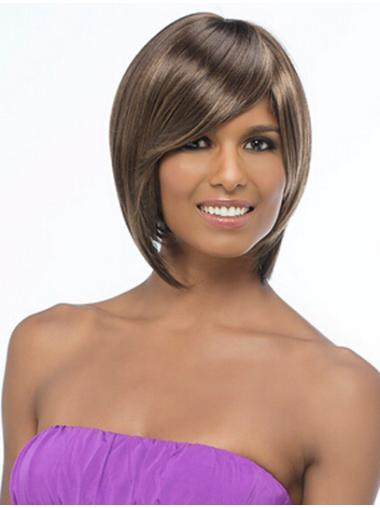Modern Synthetic 12 Inches Chin Length Synthetic Wigs