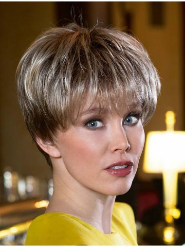 Good Synthetic 5 Inches Cropped Synthetic Wigs