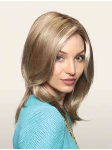 Layered Straight Synthetic Flexibility Monofilament Wigs