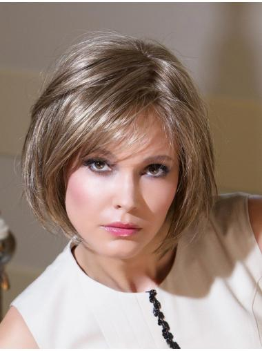 100% Hand-Tied Bobs Straight Chin Length Lace Wig With Best Hairline