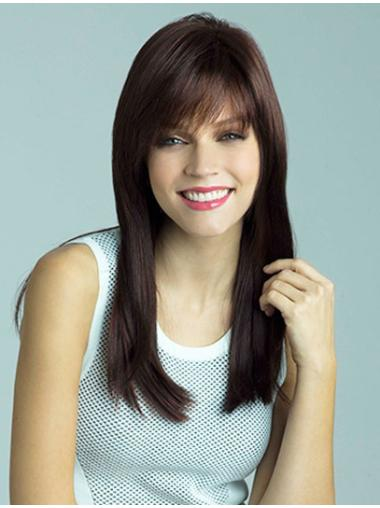 18 Inches Capless Straight Long Hair Wigs With Bangs