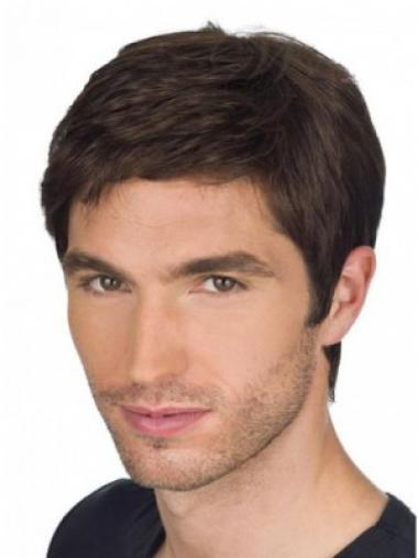 Full Lace Straight Good Men Hair Wig