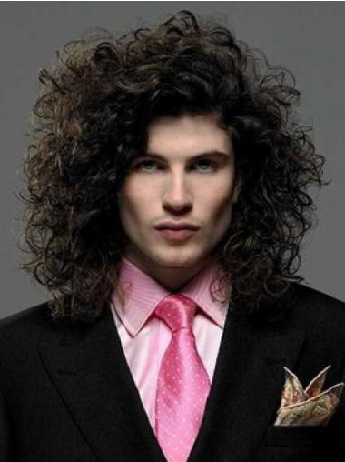 Shoulder Length Fabulous Men Front Lace Wigs