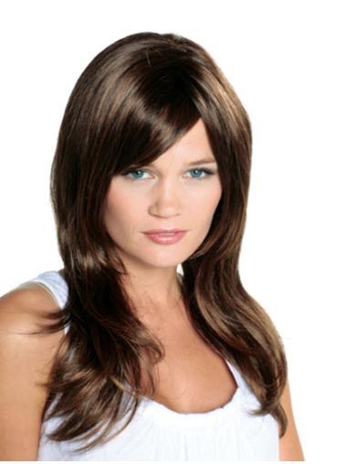 "Brown 16"" High Quality Long Human Hair Wgs"