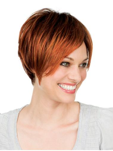 Straight With Bangs New Lace Front Human Hair Short
