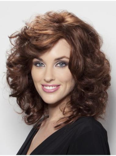 Auburn Shoulder Length Designed Long Human Wigs