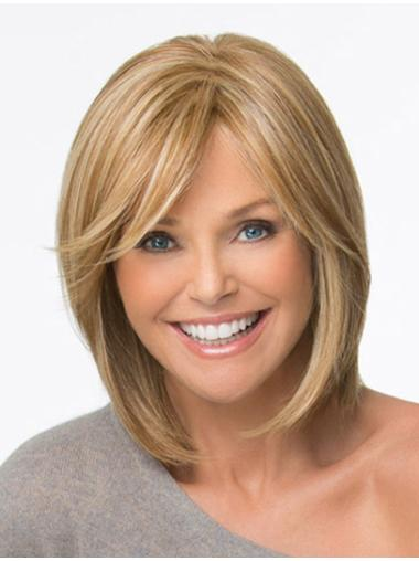 Blonde Straight Chin Length High Quality Monofilament Wigs