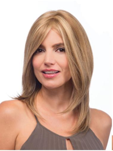 Best Natural Looking Wigs 100% Hand-Tied Layered Shoulder Length Modern