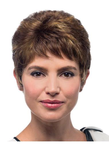 Brown Boycuts Perfect Hand Tie Synthetic Wig