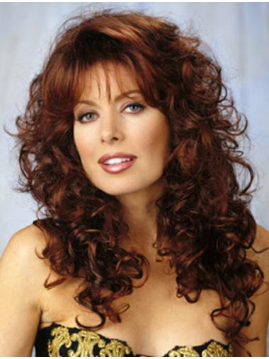 Auburn Synthetic Capless Durable Long Curly Wig