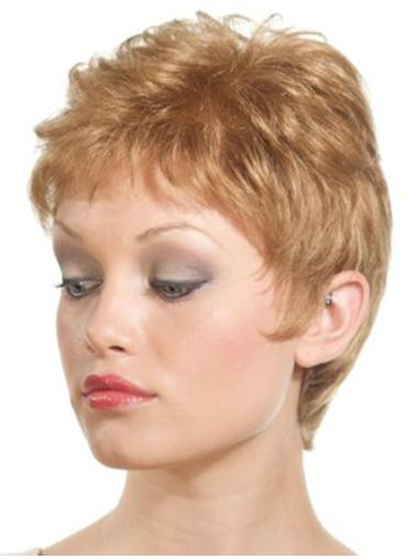 Blonde Straight Synthetic Fashion Womens Lace Front Wigs
